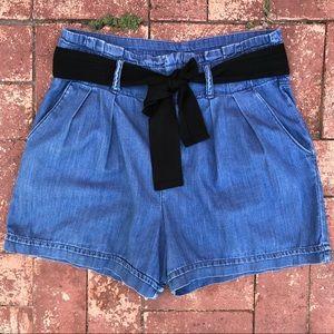 Gap high waist chambray shorts